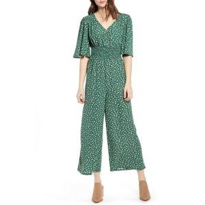Green Jumper with Flowers XS
